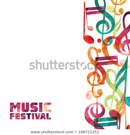 abstrato · colorido · musical · soar · música · festa - foto stock © pathakdesigner
