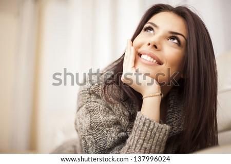 Dreaming woman Stock photo © gemenacom