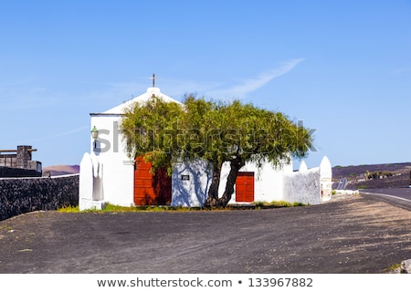 Small  chapel in rural area of La Geria in Lanzarote Stock photo © meinzahn
