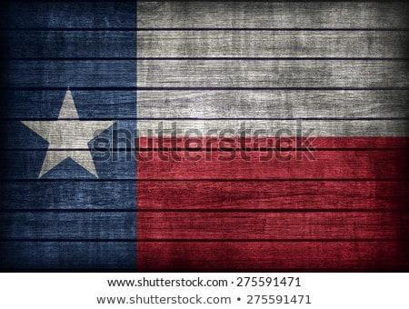 ABD harita ahşap bayrak beyaz arka plan Stok fotoğraf © olgaaltunina