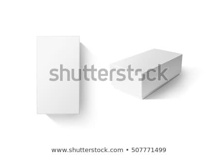 Paketleme kutu açmak karton beyaz Stok fotoğraf © dezign56