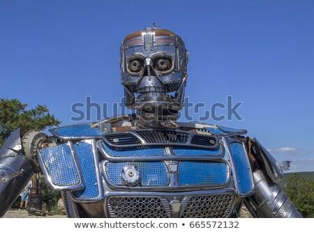Robot sculpture made from scrap metal Stock photo © stoonn