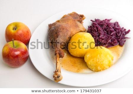 eend · benen · kool · aardappel · Rood · diner - stockfoto © digifoodstock