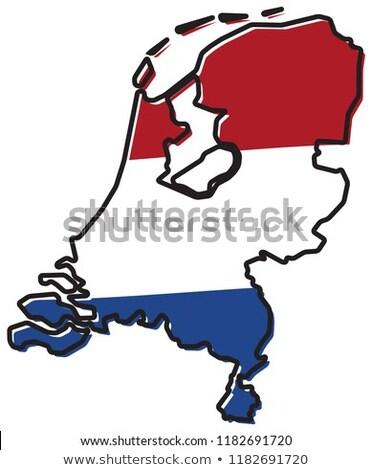 ícone bandeira Holanda isolado branco país Foto stock © MikhailMishchenko