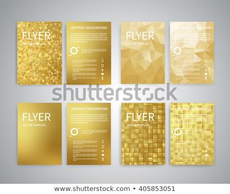 Folder golden Vector Icon Design Stock photo © rizwanali3d