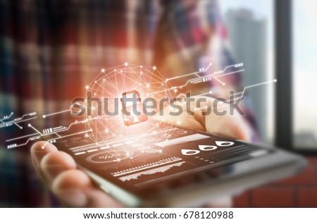 Tendencia ordenador claves edad utilizado palabras Foto stock © andreasberheide