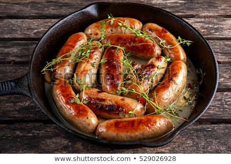 Stok fotoğraf: Traditional English Pork Sausages