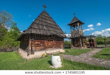 old wooden church Serbia East Europe Stock photo © goce
