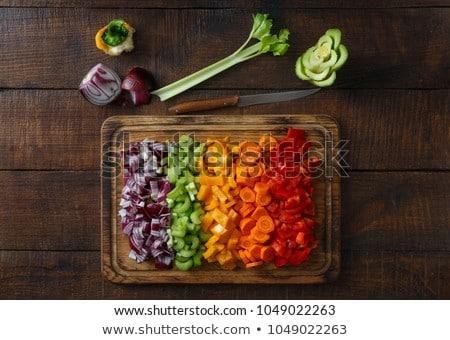 Posiekane warzyw deska do krojenia obiedzie marchew obiad Zdjęcia stock © MilanMarkovic78