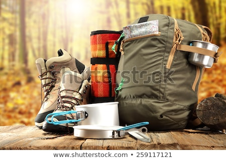 Camping gears Stock photo © bluering