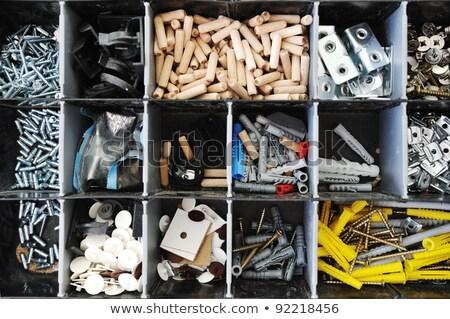 Toolbox klein stukken uitrusting werk vak Stockfoto © zurijeta