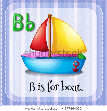 Foto stock: Carta · barco · ilustración · ninos · nino · fondo