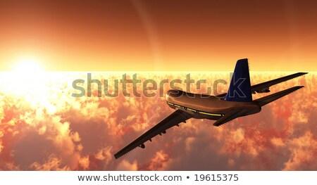3  ジェット 機 飛行 空 実例 ストックフォト © bluering