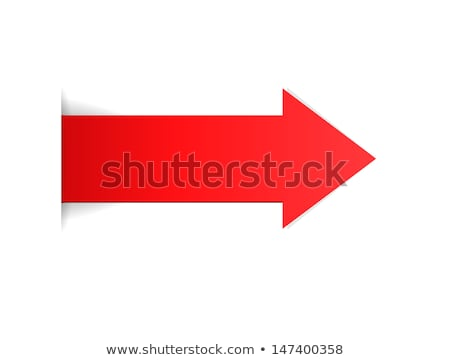 Stock photo: Blank direction sign with red arrow