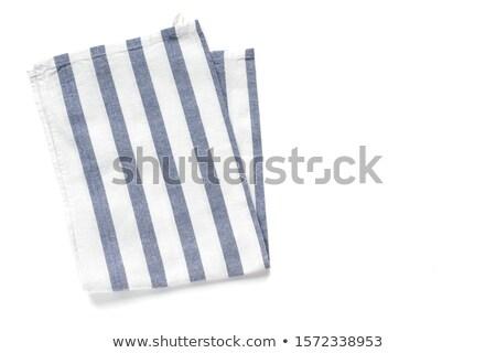 Niebieski tkaniny serwetka biały czyste Zdjęcia stock © Digifoodstock