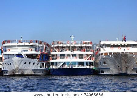 schepen · permanente · haven · oude · luxor · Blauw - stockfoto © mikko