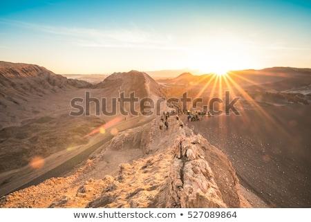 LA naplemente tájkép felhők sivatag kék Stock fotó © daboost