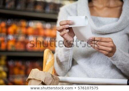 Középső rész nő alkalmi ruha fehér baba divat Stock fotó © wavebreak_media