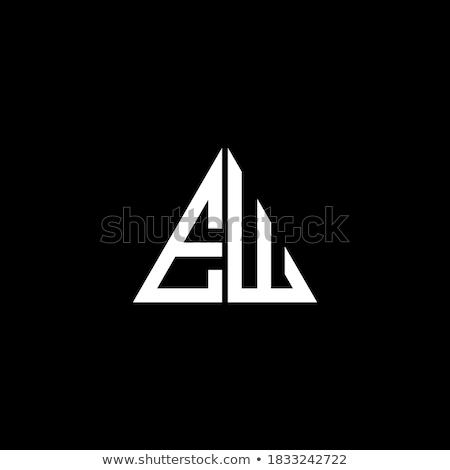 неоновых свет письме марка логотип шаблон Сток-фото © vector1st
