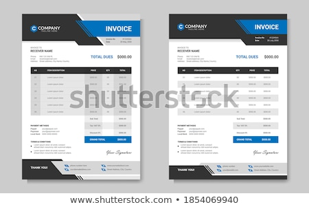abstract geometric invoice template design Stock photo © SArts