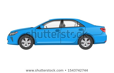 Practical Modern Car in Blue Corpus Side View Stock photo © robuart