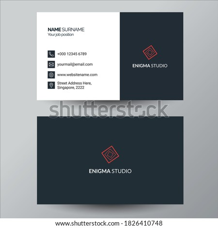 professional blue minimal style business card template Stock photo © SArts