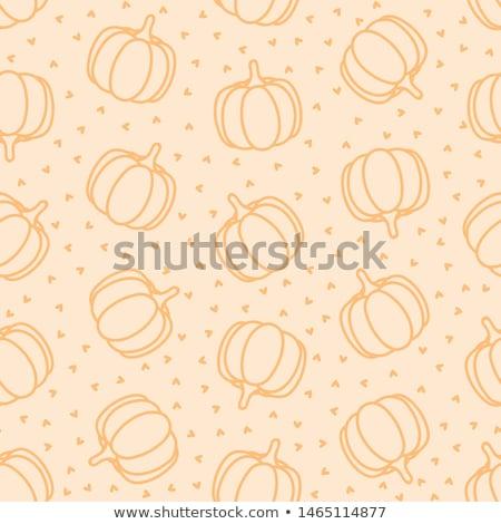 Végtelen minta sütőtök dekoratív szívek narancs érett Stock fotó © TasiPas