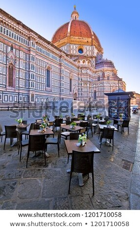 Cafe under Duomo on square in Florence Stock photo © xbrchx