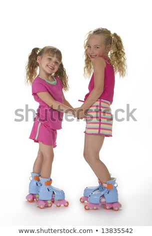 pigs playing roller skate stock photo © colematt