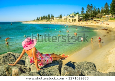 Stock photo: Female on beach -  Australian travel vacation