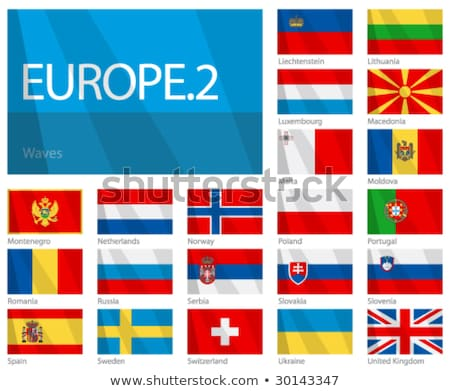 Kettő integet zászlók Oroszország Svájc izolált Stock fotó © MikhailMishchenko