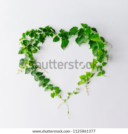 tree in the garden with leaves shaped as heart of love stock photo © ustofre9