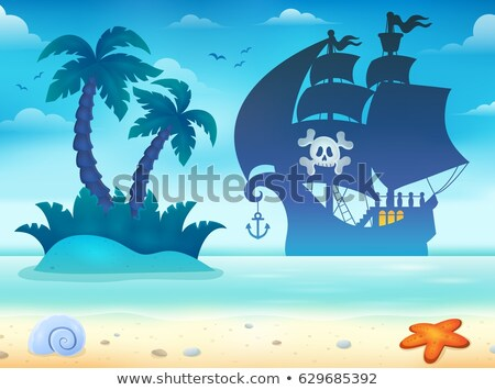 Image with pirate vessel theme 2 Stock photo © clairev