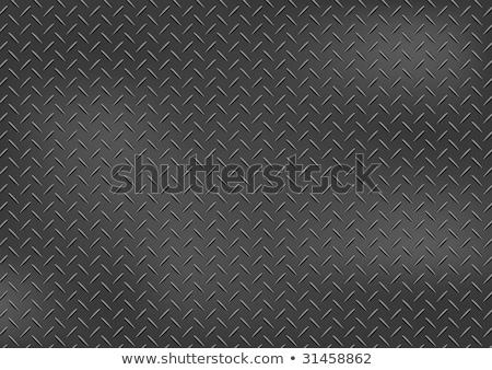Diamond Plate Seamless Pattern Metal Background Vector Illustration Stock photo © jeff_hobrath