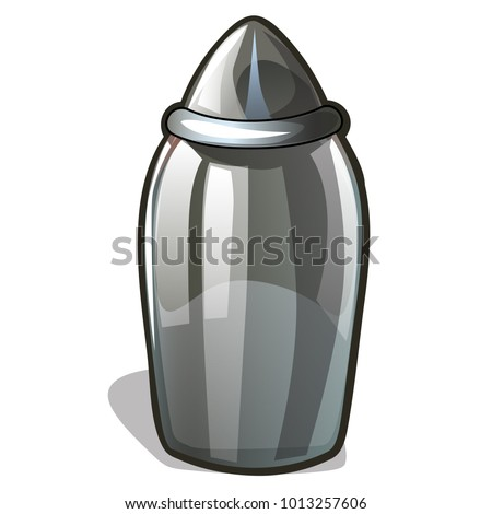Glass or transparent clear plastic jar to store bulk products isolated on white background. Vector c Stock photo © Lady-Luck