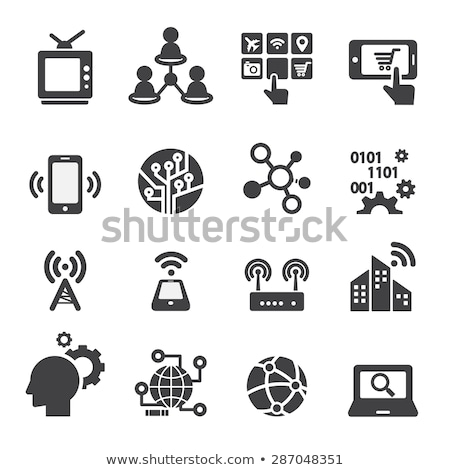 internet and technology icons stock photo © netkov1