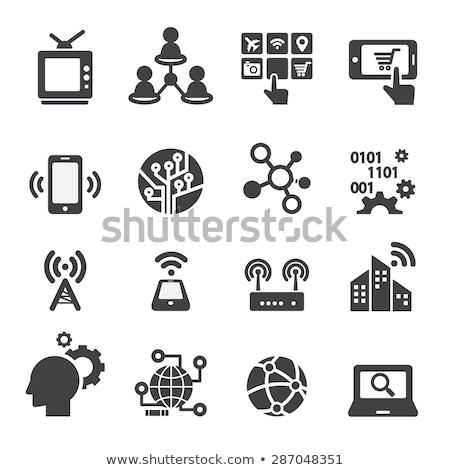 интернет технологий иконки цвета изометрический Сток-фото © netkov1