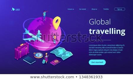 reis · rond · wereld · natuur · aarde · vliegtuig - stockfoto © rastudio