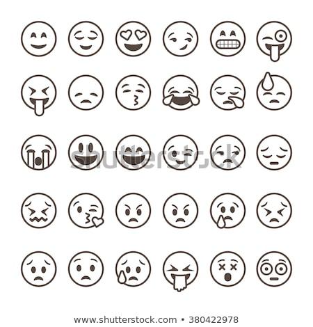 Funny cute emoticon outline Stock photo © Blue_daemon