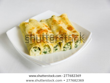 Relleno pasta alimentos restaurante queso cena Foto stock © Alex9500