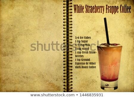 Cerise recette portable page fruits verre Photo stock © netkov1