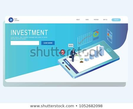 Inwestycje banner starszy ludzi Zdjęcia stock © RAStudio