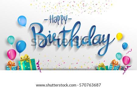 Mutlu yıllar tatil kutlama balon kart vektör Stok fotoğraf © robuart
