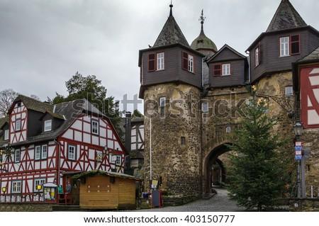 Kapu torony Németország város központ kő Stock fotó © borisb17