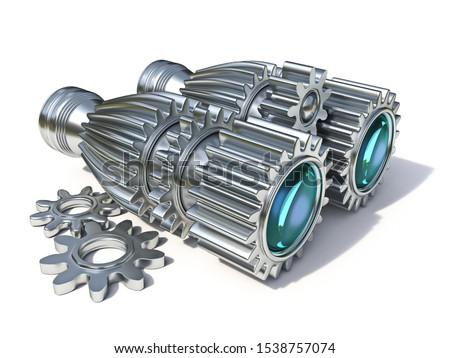 Metal roda dentada rodas 3D 3d render ilustração Foto stock © djmilic