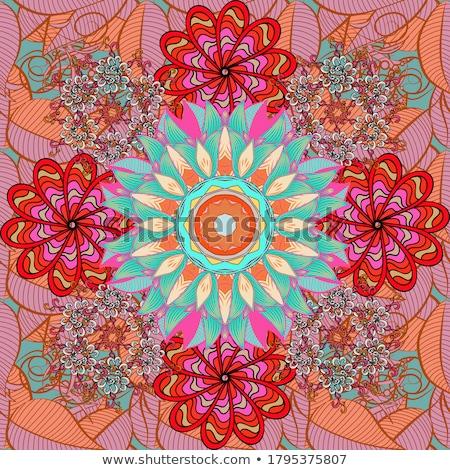 Mandala model dizayn mavi turuncu örnek Stok fotoğraf © bluering