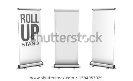 Roll Up Stand Collection In Different View Vector Stock photo © pikepicture