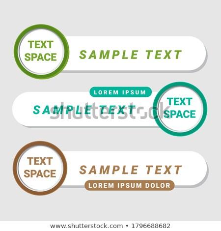 Verlagen derde banners stijl ontwerp achtergrond Stockfoto © SArts