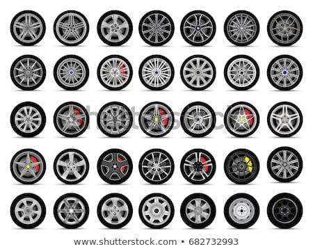 Vector auto wielen geïsoleerd witte machine Stockfoto © dashadima