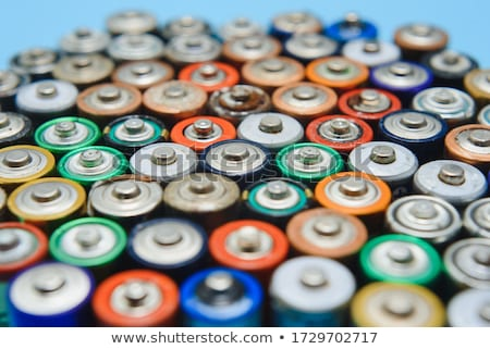 Set of batteries in many sizes and color Stock photo © bluering